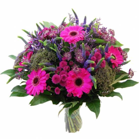 Букет темно-розово-фиолетовый